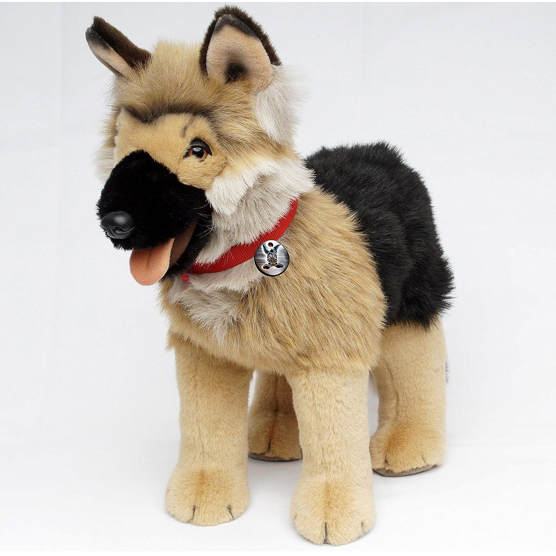 Deutscher Schäferhund DONA Plüschtier stehend 58 cm von Kuscheltiere.biz