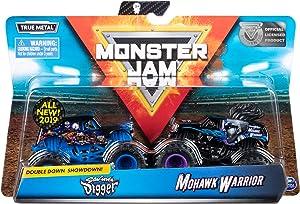 Monster Jam Official Son-uva Digger vs Mohawk Warrior Die-Cast Monster Trucks, 1:64 Scale, 2 Pack
