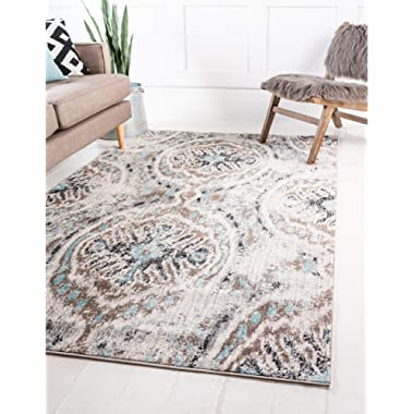Unique Loom Tradition Collection Classic Southwestern Ivory Area Rug (5' 0 x 8' 0)