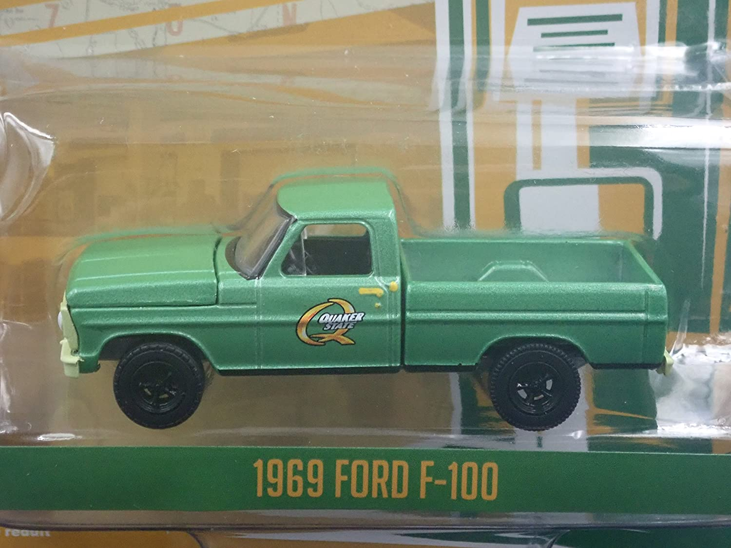 Greenlight Sold By Brtc 1969 Ford F100 Short Bed Pickup Truck Quaker State Rare 1 64 Diecast Model Toys Games