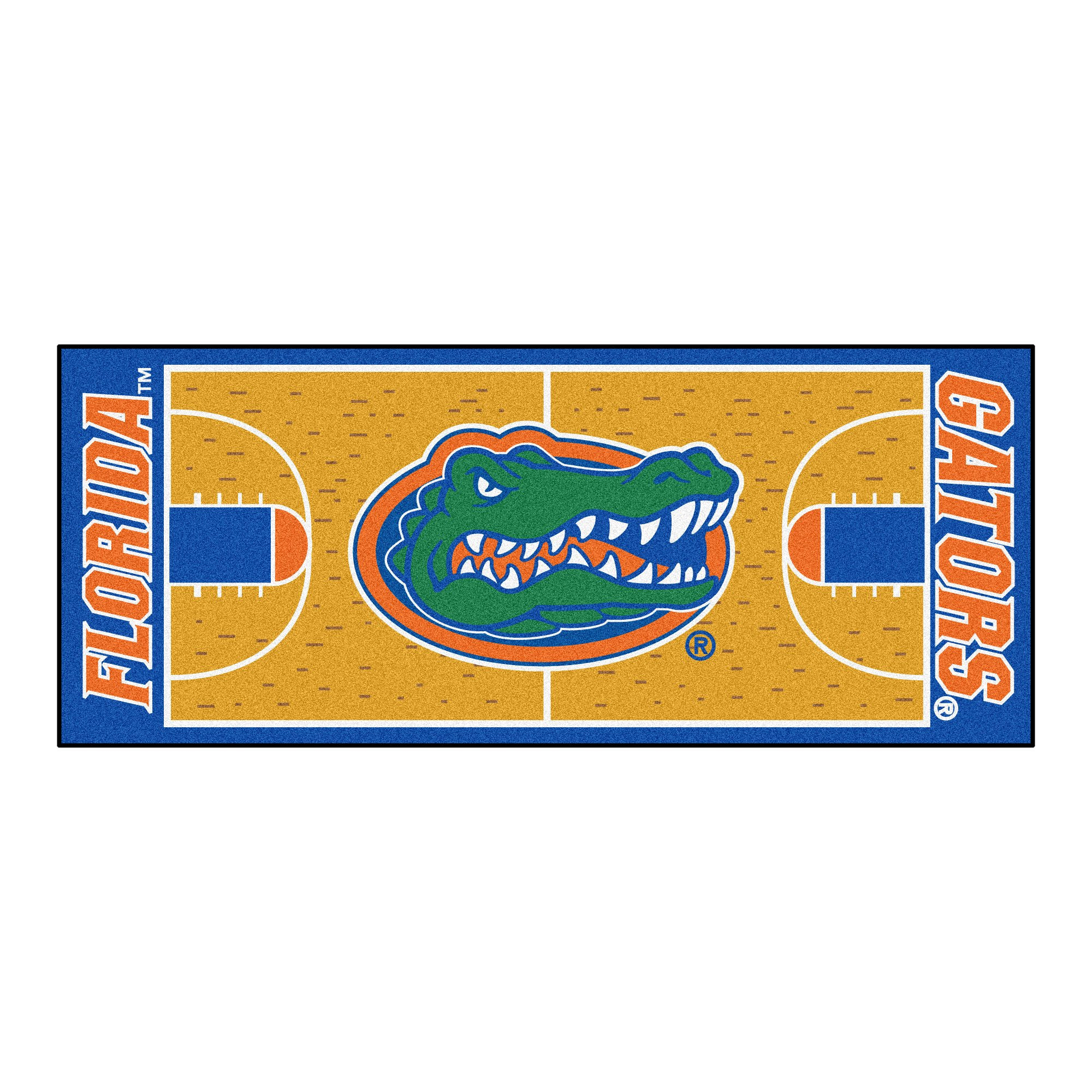 NCAA University of Florida Gators NCAA Basketball Non-Skid Mat Area Rug Runner