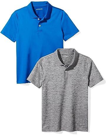 965b49738a8673 Amazon Essentials Boys' 2-Pack Performance Polo