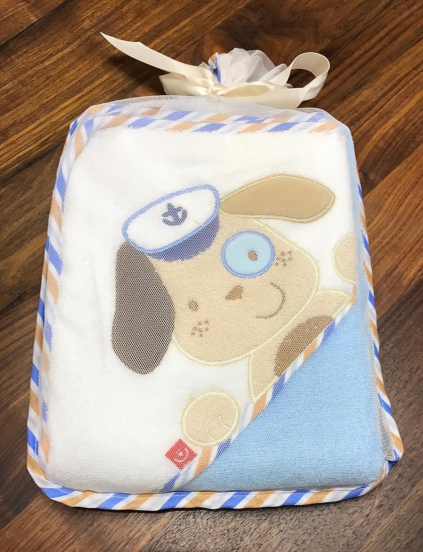 Serviette /à capuche brod/ée avec nom et date de naissance 76 x 76 cm 100/% coton Douillette de qualit/é sup/érieure