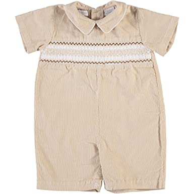 8f31d3ee278 Amazon.com  Baby Boy s Zig Zag Tan Corduroy Shortall  Clothing