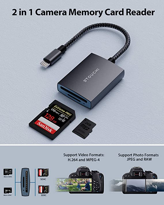 Sd Card Reader For Phone Pad Stouchi 2 In 1 Sd Elektronik