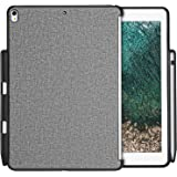 Apple iPad Pro 12.9 Case, ProCase Companion Cover for iPad Pro 12.9 Inch (Both 2017 and 2015 Models), Back Cover with Apple Pencil Holder, Match for Apple Smart keyboard and Smart Cover –Grey