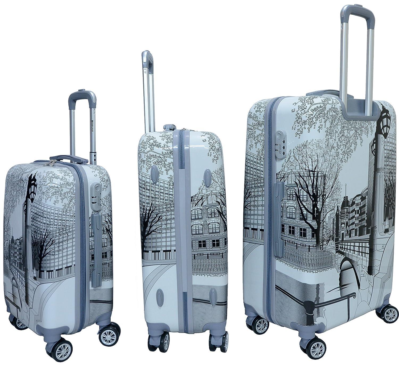 b54cb8fe6589 Morano 3-Piece Luggage Travel Set Bag PC Trolley Suitcase (28