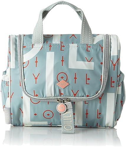 Oilily Ruffles Geometrical Washbag Mhz 1, Organiseurs de sacs à main femme, Rose, 12x21x26 cm (B x H T)