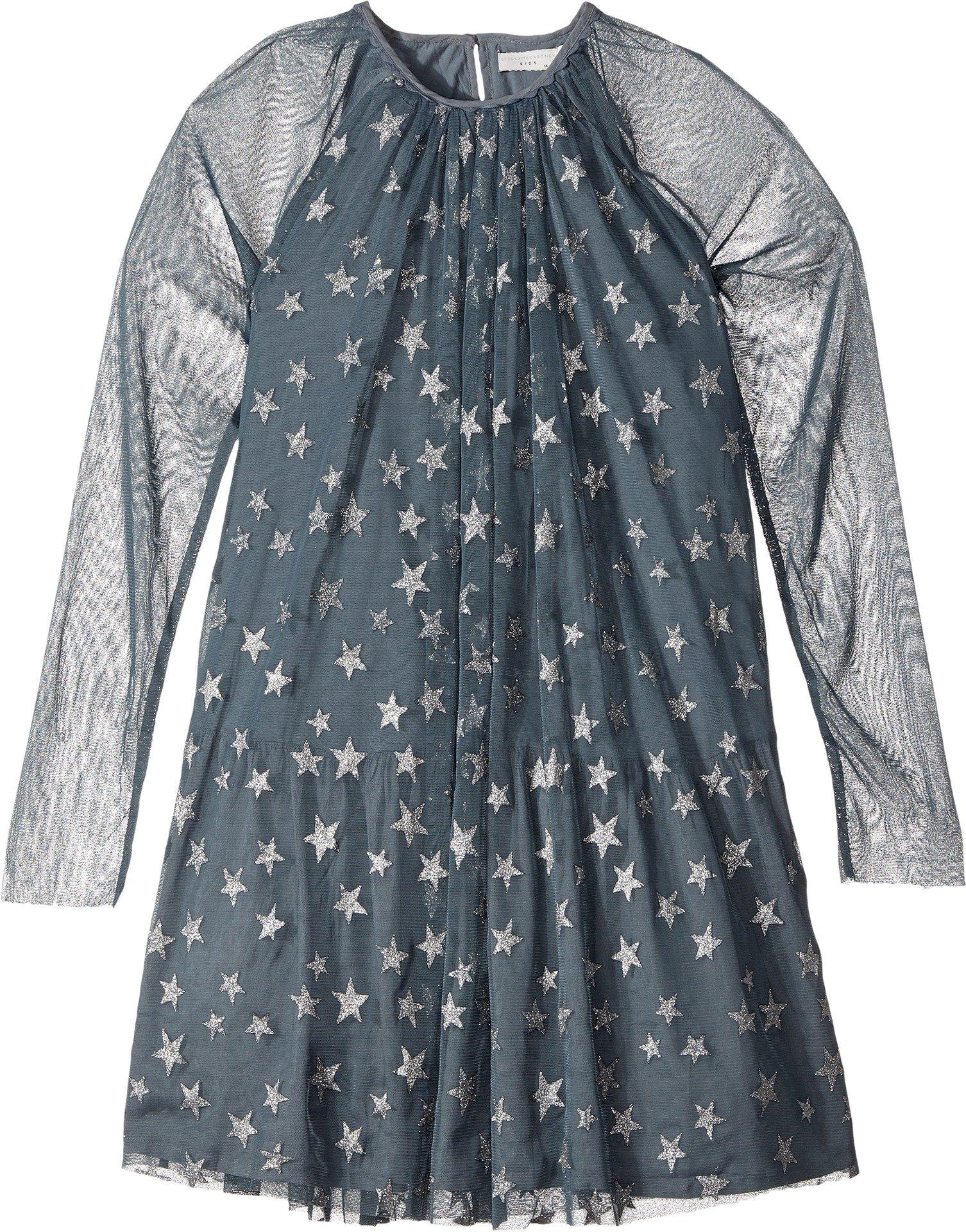Stella McCartney Kids Girls' Misty Star Print Tulle Dress, Blue, 4
