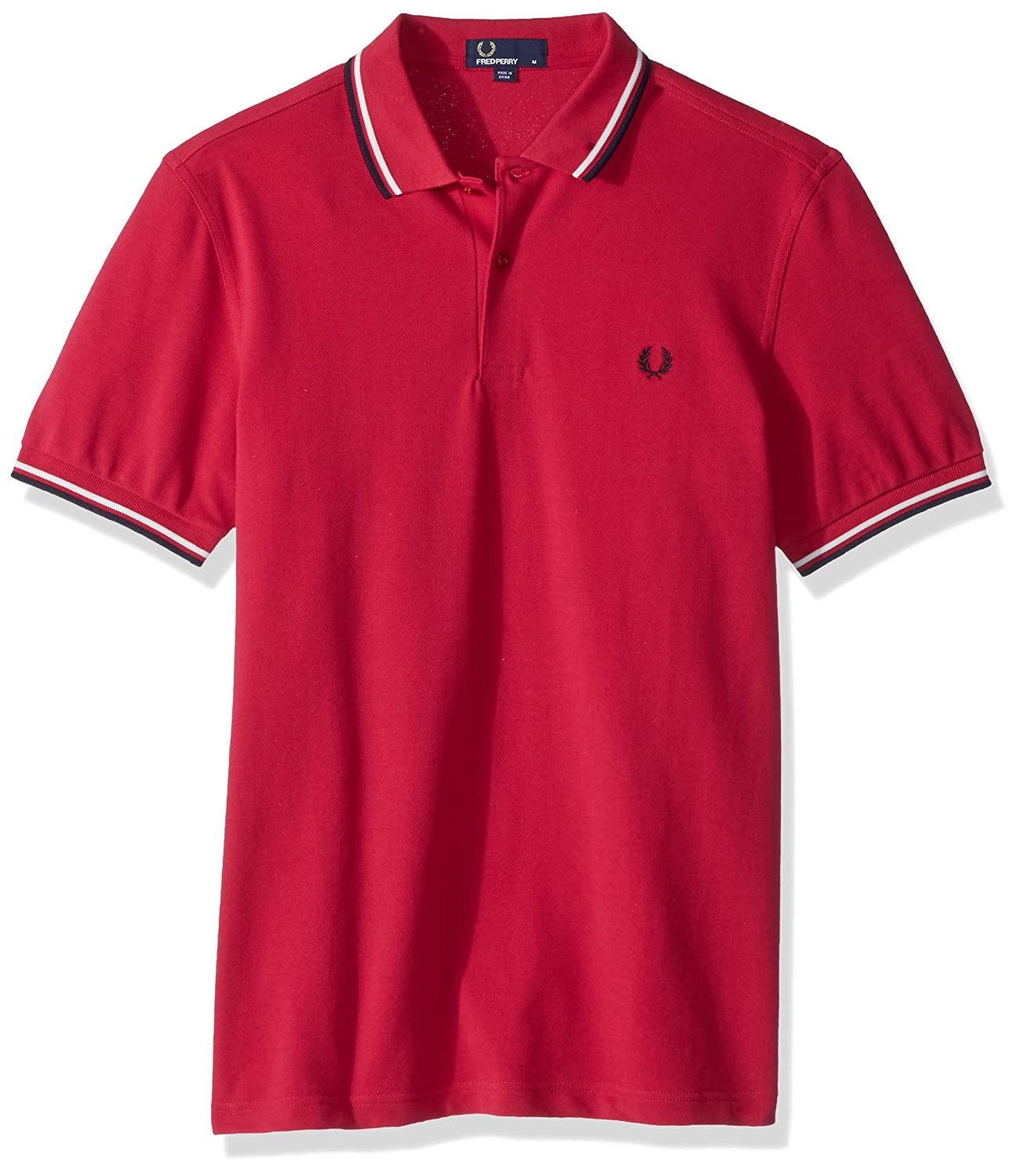 Rouge (Terracotta F68) L Frouge Perry FP Twin Tipped Polo Homme
