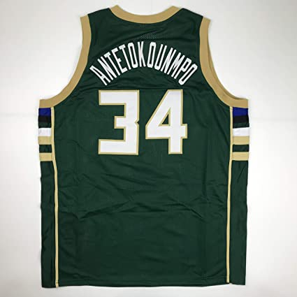 b62a3990a Unsigned Giannis Antetokounmpo Milwaukee Green Custom Stitched Basketball  Jersey Size Men s XL New No Brands