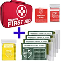 Bundle & Save: 2-in-1 First Aid Kit and 4-Pack Army Green Emergency Blankets