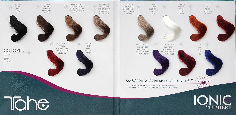 Tahe Ionic by Lumiere - Mascarilla capilar color marrón claro, 100 ml