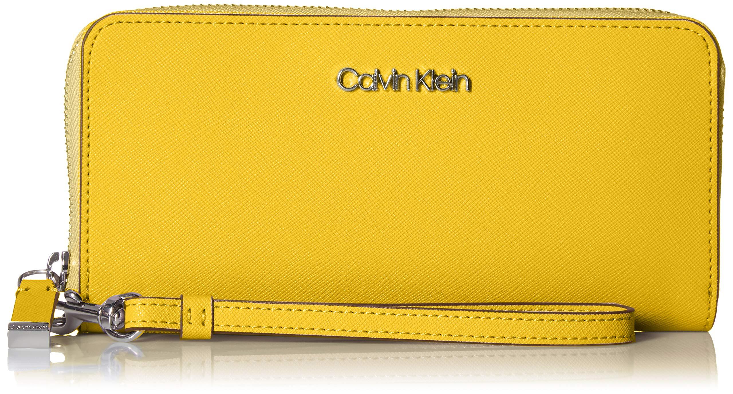 Calvin Klein Key Item Saffiano Continental Zip Around Wallet with Wristlet Strap