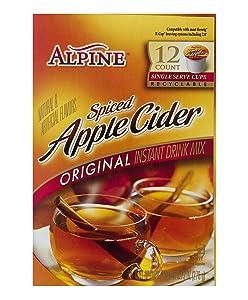 Alpine Original Spiced Apple Cider Instant Drink Mix, Single Serve K-Cups, 12 CT (Pack of 6)