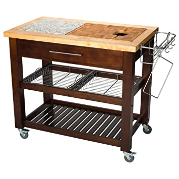Amazon.Com - Chris & Chris Jet1224 Pro Chef Kitchen Cart With