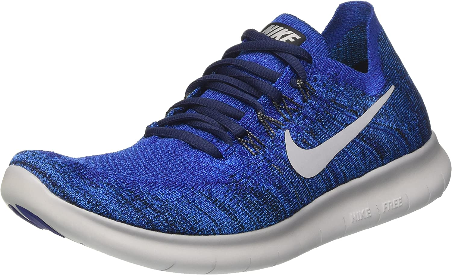 Nike Free Rn Flyknit 2017, Zapatillas de Running Hombre, Azul (Binary Blue/White/Mega Blue/Wolf Grey), 40.5 EU: Amazon.es: Zapatos y complementos