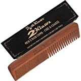 """2Klawz Hair Comb for Men - Hair and Beard Comb with Wide and Fine Teeth Full Size 7"""" Combination Comb - Christmas Holiday Bearded Man Special Gift Deal for Men"""