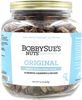 product image for BobbySue's Nuts Original Style Nuts - All Natural Savory Snack Nuts Mix of Almonds, Cashews, Pecans, 32oz Party Size Jar