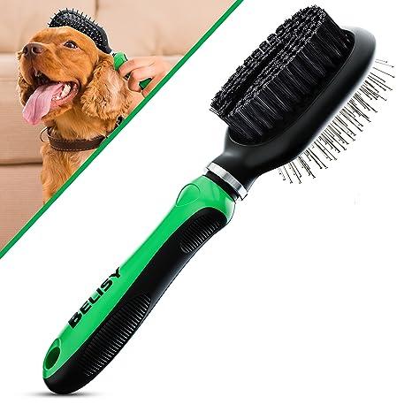 BELISY Cepillo Perro / Gato Lado Doble - Elimina Eficazmente la Capa Inferior y los Pelos