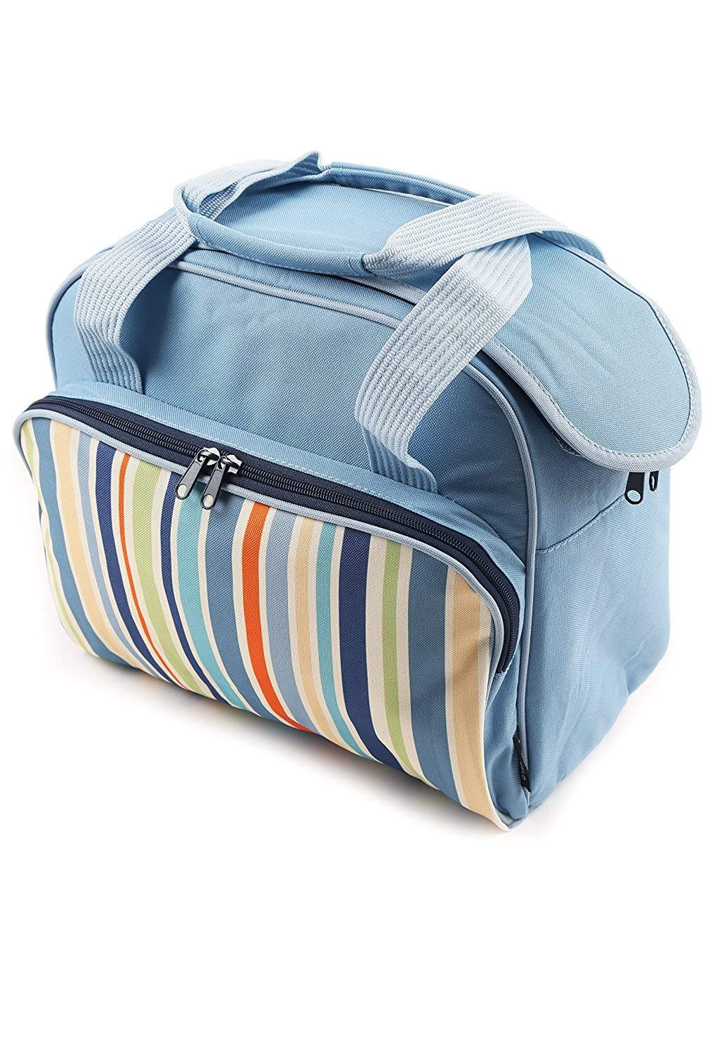 Greenfield Collection Sky Blue 2 Litre Folding Lunch Cool Bag CB011H