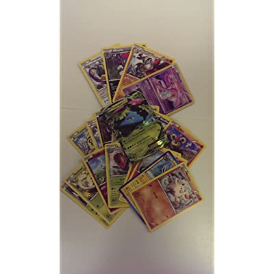 20 Lot de cartes Pokemon - Avec carte de niveau X ou Ex + 4 Rares! Par Pokemon Version Anglaise