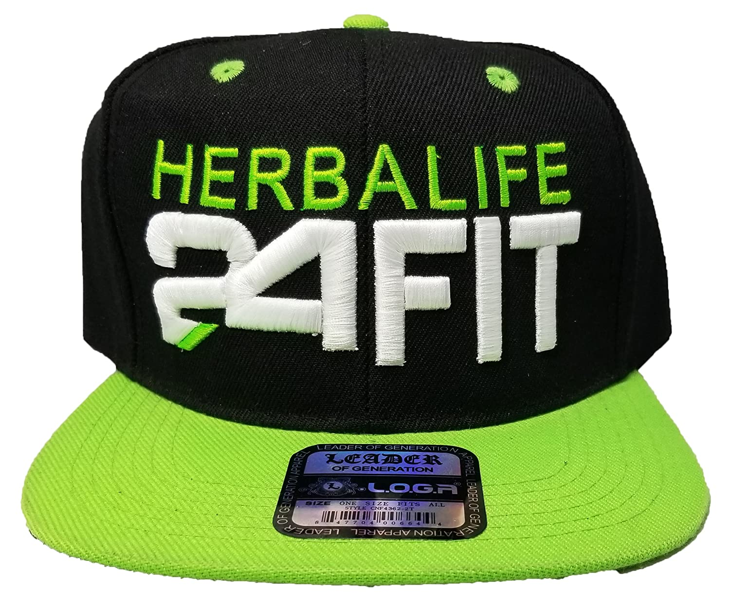 cba90563694ce Amazon.com  Leader 3D Puff Herbalife 24FIT Snapback Hat