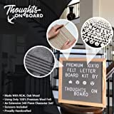 Premium Grey Felt Letter Board Kit 10x10