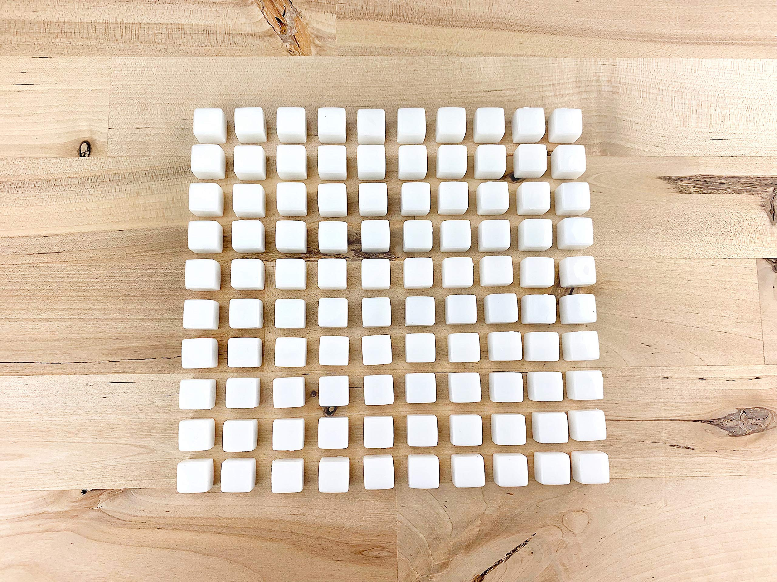 100 Opaque White Acrylic Cubes, 10mm or 2/5 inch by The Game Crafter
