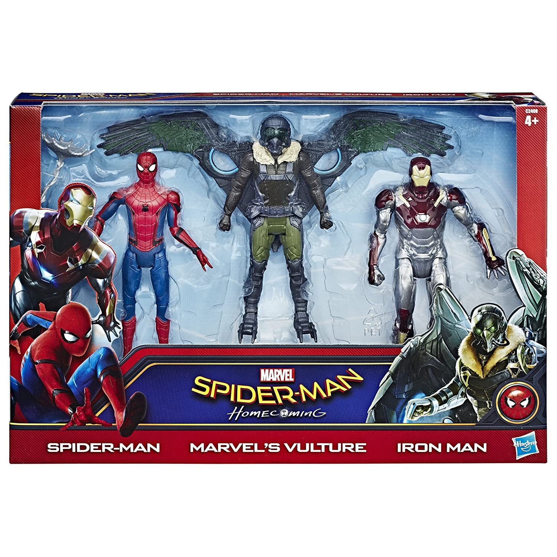 Hasbro C2408EU5 - Spider-Man 6 Zoll Web City Figure 3 Pack, Actionfigur C2408EU40
