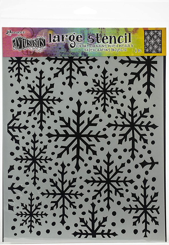 Ranger Dyan Reaveleys Dylusions Stencils 9X12-Snowflake