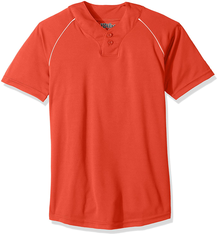 ウィルソンs201野球ジャージー B00LOAFOEW S|オレンジ オレンジ S