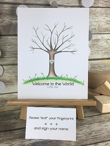 Amazon Customizable Fingerprint Tree For A Wedding Baby Shower