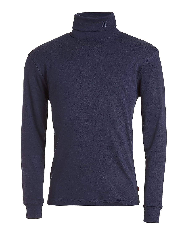 Medico Herren Ski Shirt, 100% Baumwolle, langarm, Rollkragen (navy, 60)