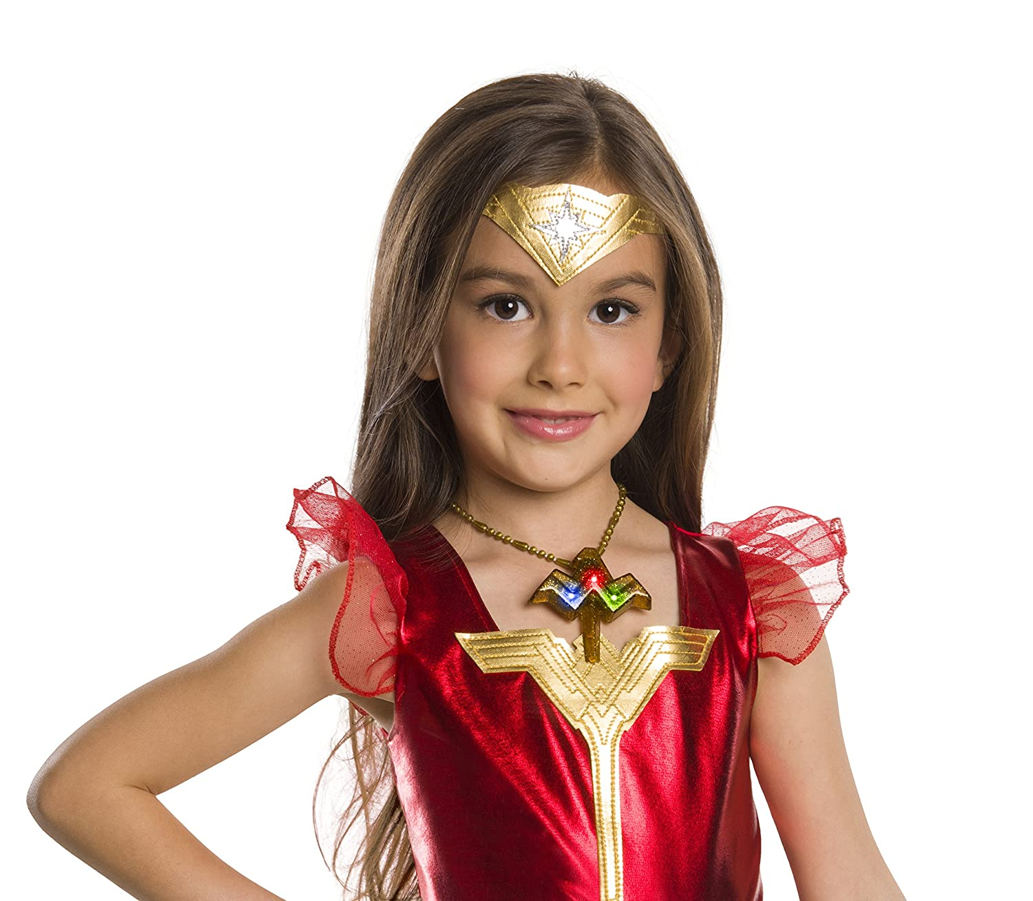 Rubies Costume Company 34385/_NS Girls Justice League Wonder Light-Up Belt Costume One Size