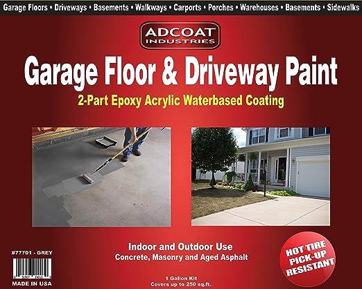 Amazon Com Garage Floor Driveway Paint 2 Part Acrylic Epoxy