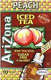 AriZona Peach Iced Tea Iced Tea Stix Sugar Free, 0.8-Ounce Boxes (Pack of 6)