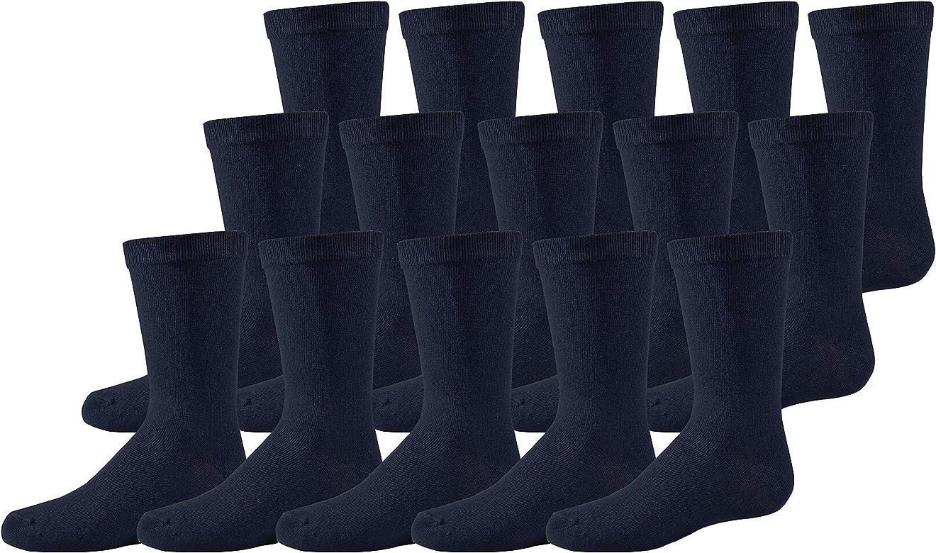 Girls Boys 15 Pairs Ankle Socks Unisex White School Childrens Cotton Rich Socks