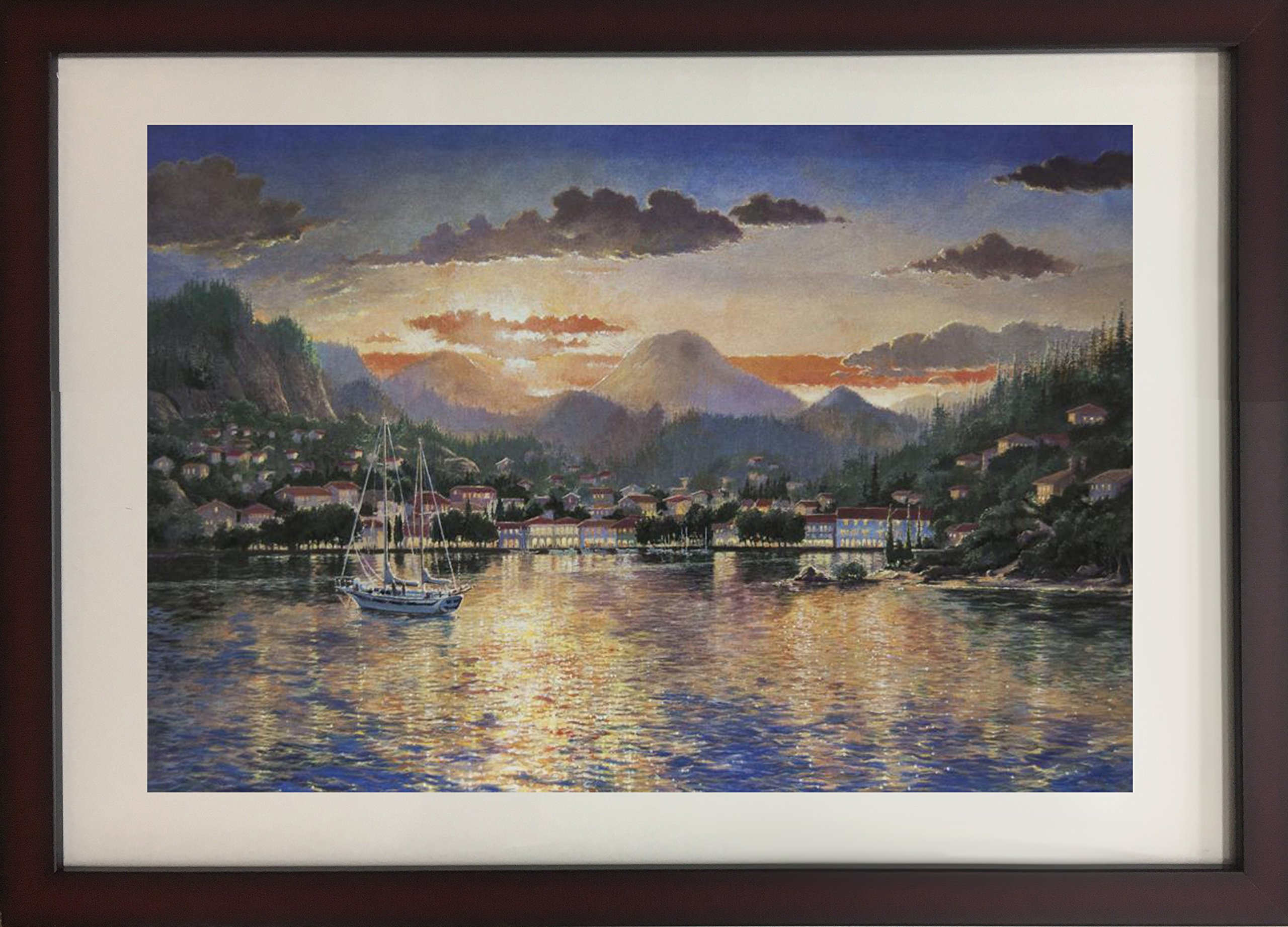 Harbour at Evening by