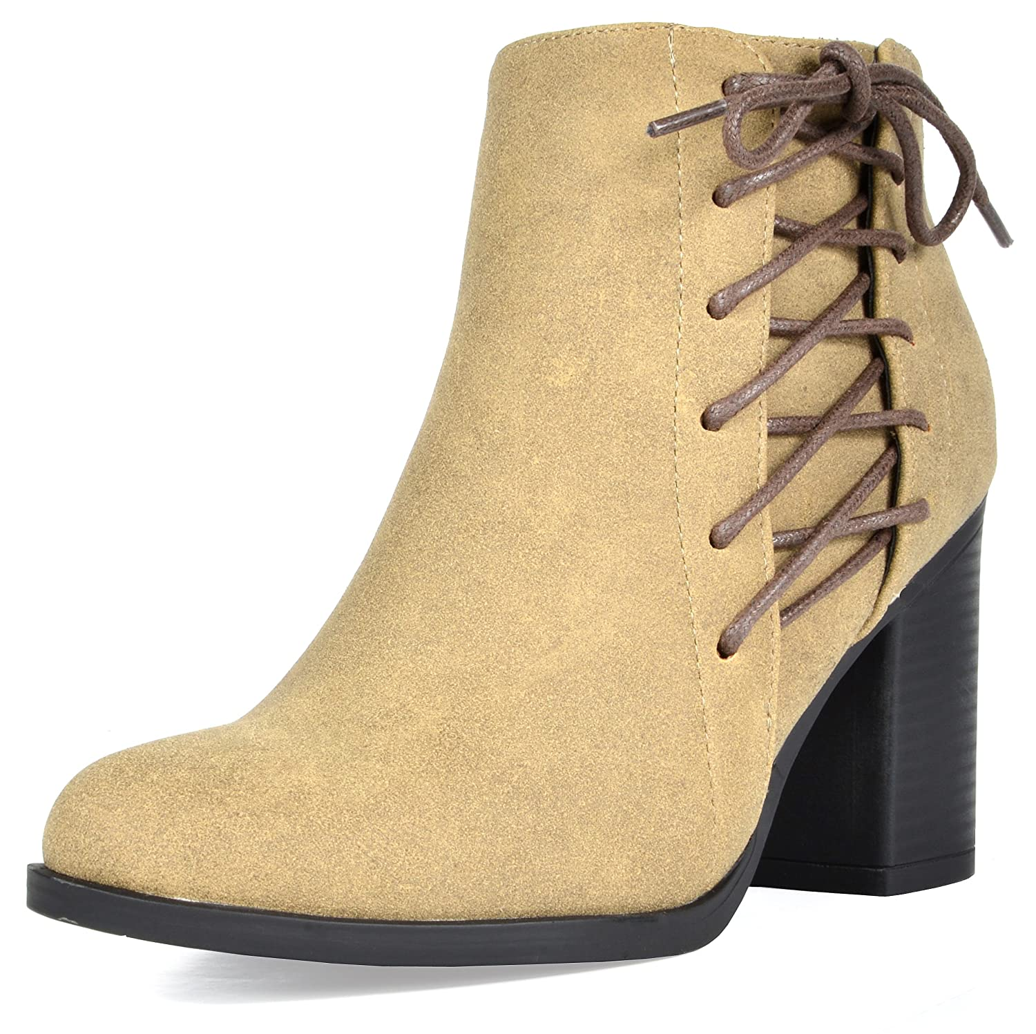 5f944a09b27 TOETOS Women's Chicago Chunky Heel Ankle Booties