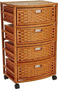 "Oriental Furniture 29"" Natural Fiber Chest of Drawers - Honey"