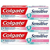 3Pk Colgate Sensitive Maximum Strength Whitening Toothpaste Deals