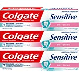 Colgate Sensitive Maximum Strength Sensitive Whitening Toothpaste 6 ounce (Pack of 6)