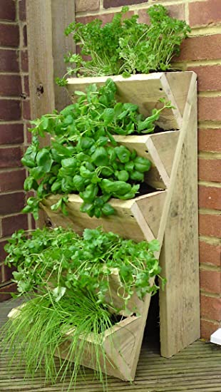Five Tiered Herb Planter Amazon Co Uk Garden Outdoors