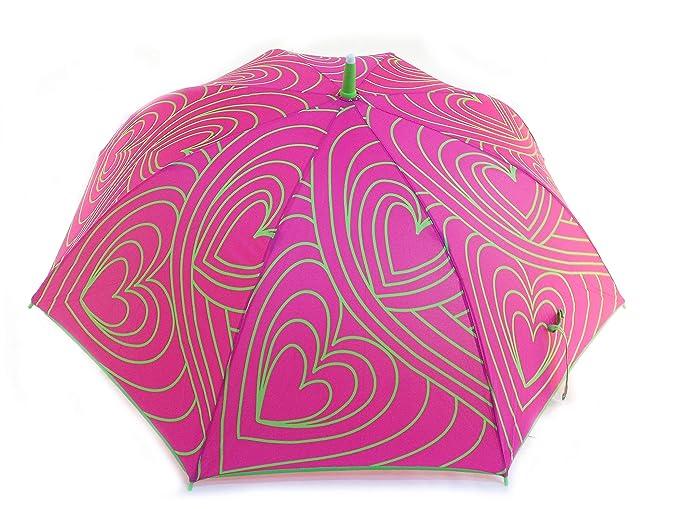 Agatha Ruiz de la Prada Paraguas automático de corazones: Amazon.es: Ropa y accesorios