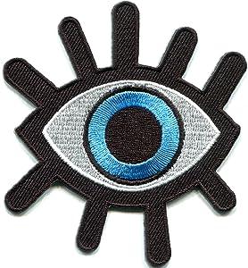 Eye eyeball tattoo wicca occult goth punk retro applique iron-on patch