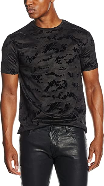 Antony Morato T Shirt Stampa Camouflage Camisa, Negro, S para ...