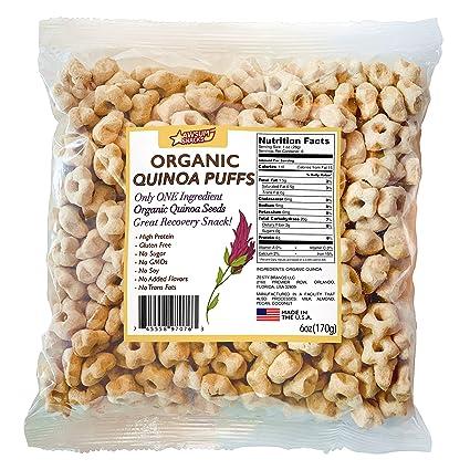 Awsum Snacks Quinoa orgánica con estrellas de canela Puffs ...