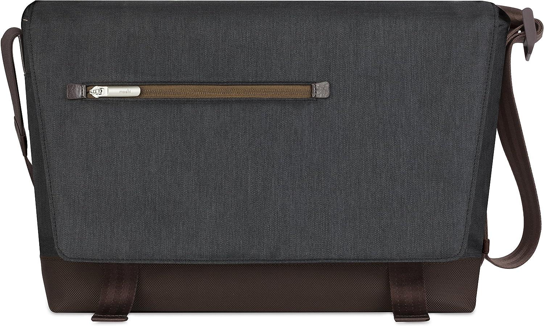 "Moshi Aerio Messenger Bag (Fits up to 15"" MacBook, Chromebook, Laptop) - Charcoal Black"