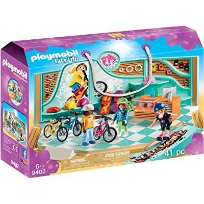 PLAYMOBIL Bike & Skate Shop: Toys & Games